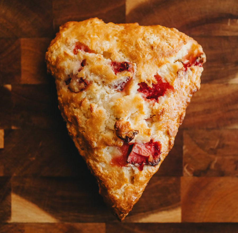 Strawberry Balsamic Scone